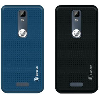 Mobik Black Dotted With Blue Dotted Back Cover for Gionee P7 - Soft Silicon