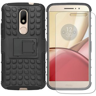 Mobik Hybrid Back Cover for Motorola Moto M With Tempered Glass