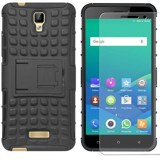 Mobik Hybrid Back Cover for Gionee P7 With Tempered Glass