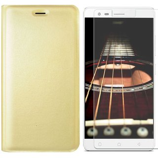 Deltakart Flip Cover for Lenovo K5 Note With Tempered Glass