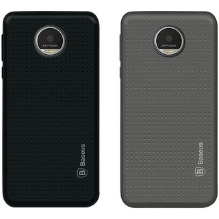Deltakart Black Dotted With Grey Dotted Back Cover for Motorola Moto Z Play - Soft Silicon