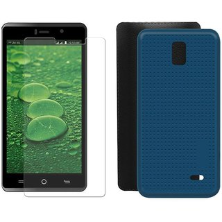 Deltakart Tempered Glass for LYF WATER 10 With Blue Dotted Back Cover