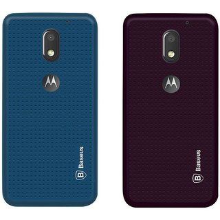 Deltakart Blue Dotted With Purple Dotted Back Cover for Motorola Moto E3 Power  - Soft Silicon