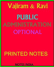 Vajiram and Ravi IAS -Public Administration IAS Optional Printed notes (6 Booklets)