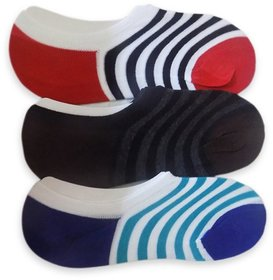 epitome Multicolour Striped Cotton Footies Loafer Socks - Pack Of 3