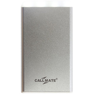 Callmate Metal Pumi 4000 mAh Power Bank With LED Light - Silver