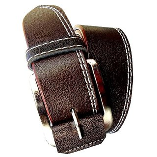 RoxelCraft men's brown  belt (Synthetic leather/Rexine)