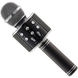 IBS WS-858 Portable Karaoke Wireless Singing Bluetooth Recording Mic Party Speaker KTV Black Microphone