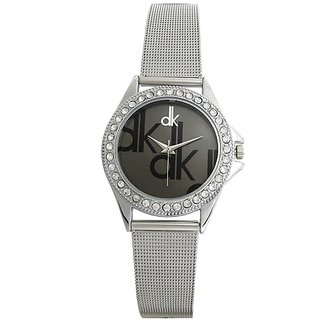 HK dk silver stainless steel watch for women