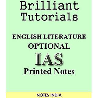 Brilliant Tutorials IAS English Literature Optional Printed Notes