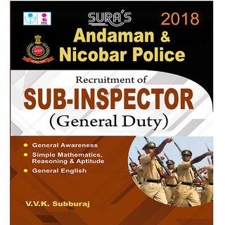 Andaman  Nicobar Sub Inspector (General Duty) Exam Books 2018