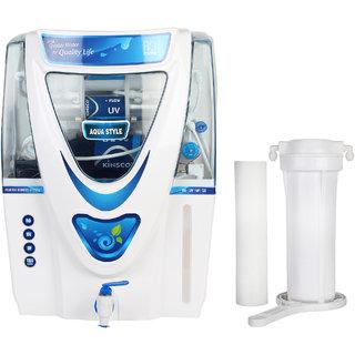 Kinsco Aqua Style 15 L Ro+Uv+Uf+Tds Adjuster Water Purifier with Prefilter