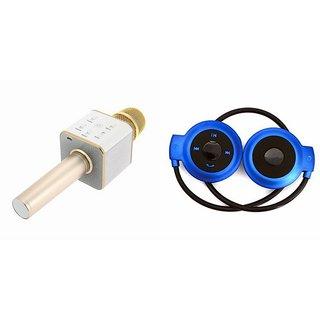 Zemini Q7 Microphone and Mini 503 Bluetooth Headset  for PANASONIC ELUGA ICON(Q7 Mic and Karoke with bluetooth speaker | Mini 503 Bluetooth Headset With Mic)
