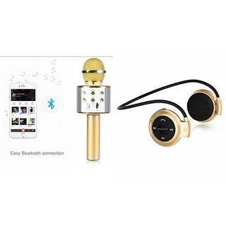 Zemini Q7 Microphone and Mini 503 Bluetooth Headset  for GIONEE W909(Q7 Mic and Karoke with bluetooth speaker | Mini 503 Bluetooth Headset With Mic)
