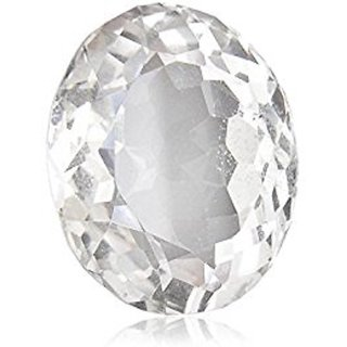5 ratti 100  natural white sapphire  by lab certified