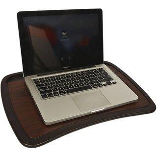 IBS Portable Foam Cushion Base Wooden Lap Desk Table LA2 Laptop Stand (Color-Brown)