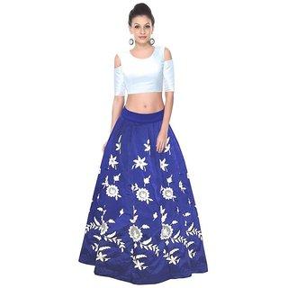 22b62d72d54a9 Buy New designer Blue and White Colour Dhupian Silk Party