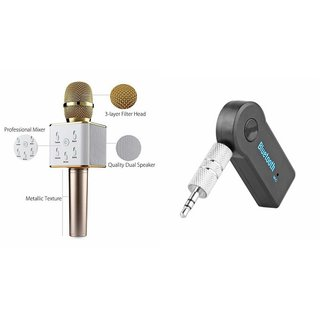 Mirza Q7 Microphone and Car Bluetooth Device  for MICROMAX CANVAS KNIGHT(Q7 Mic and Karoke with bluetooth speaker | Car Bluetooth Device)
