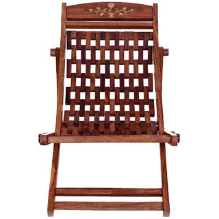 Folding Sheesham Wooden Eazy Chair