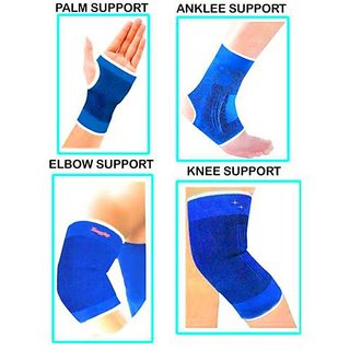 Kudos Combo of Knee, Palm, Elbow, Ankle Supports for fitness