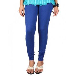 Royal Blue Cotton Lycra Leggings