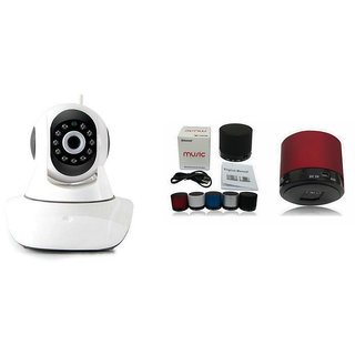 Zemini Wifi CCTV Camera and S10 Bluetooth Speaker for LG L40(Wifi CCTV Camera with night vision |S10 Bluetooth Speaker)