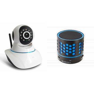Zemini Wifi CCTV Camera and S10 Bluetooth Speaker for PANASONIC ELUGA L 4G(Wifi CCTV Camera with night vision |S10 Bluetooth Speaker)