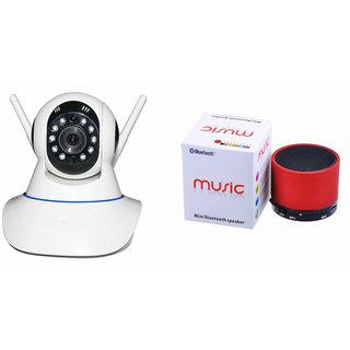 Zemini Wifi CCTV Camera and S10 Bluetooth Speaker for XOLO Q900S PLUS(Wifi CCTV Camera with night vision |S10 Bluetooth Speaker)