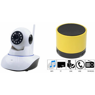 Zemini Wifi CCTV Camera and S10 Bluetooth Speaker for MICROMAX BOLT A37(Wifi CCTV Camera with night vision |S10 Bluetooth Speaker)