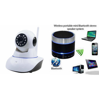 Zemini Wifi CCTV Camera and S10 Bluetooth Speaker for IPHONE 5(Wifi CCTV Camera with night vision |S10 Bluetooth Speaker)