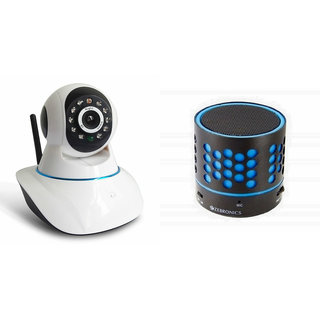 Zemini Wifi CCTV Camera and S10 Bluetooth Speaker for Oppo F1(Wifi CCTV Camera with night vision |S10 Bluetooth Speaker)