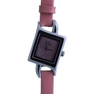 Times Analog Pink Dial Women's Watch Pink Strap Rectangular Dial (1q10)