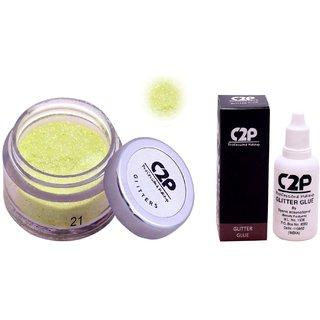 C2P Professional Make-Up, Eye Glitters and Glitter Glue Combo