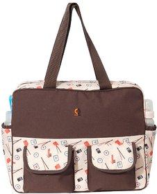 Vouch Yukari Brown Travel Duffle Mother bag / Baby Diaper Bag / Shoulder bag