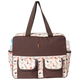 Vouch Yukari Brown Travel Duffle Mother bag / Baby Diaper Bag / Shoulder bag