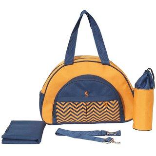 Prettykrafts Vouch Keepall Zigzag Shoulder Bag / Diaper Bag / Baby bag