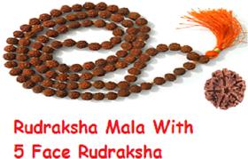 only4you 100 Original Real 5 Mukhi Rudraksha Mala For Jaap 5 Mukhi Rudraksha Bead FREE