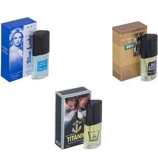 Skyedventures Set of 3   Blue Lady-The Boss-Titanic Perfume