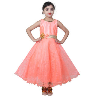 161d675bbf38d Buy KBKIDSWEAR Girl s Self Design Party Wear Premium Net Gown Online - Get  69% Off