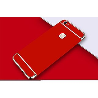 BM Vivo V7 Plus 3in1 Hybrid Hard Back Cover Electroplating Case For Vivo V7  Plus (Red)