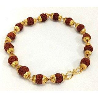 only4you Rudraksha Bracelet with Gold Cap pack of 1