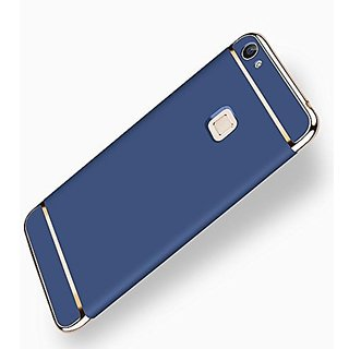 the latest 48d9c 3821d SK Vivo V7 Plus Cover 3in1 Dual Hybrid Double Dip Hard Back Cover Shock  Absorber (Blue)