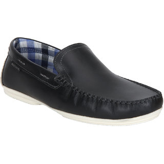 Red Tape Men Black Leather Casual Slip-on