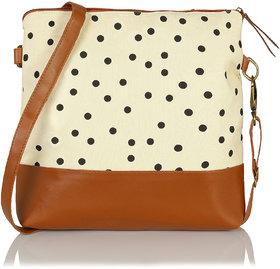 Beautiful Polka Dots Cross Body Sling Bag For Girls / W