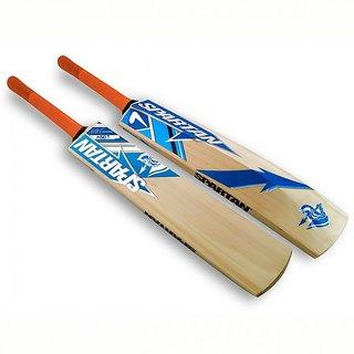 RetailWorld Spartan Sticker PoplarPopular Willow Cricket Bat Size4 For Age Group 9 to 11 Yrs