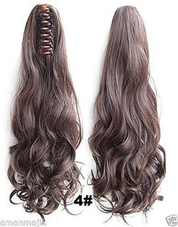 hair extention  On Plastic Hair Cluture For Girls And women