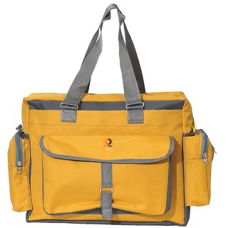 Vouch Bria Travel Duffle Yellow Multipocket Mother bag / baby diaper bag / shoulder bag