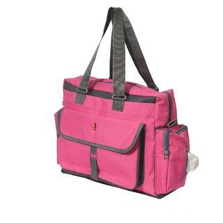 Vouch Bria Travel Duffle Pink Multipocket Mother bag / baby diaper bag / shoulder bag