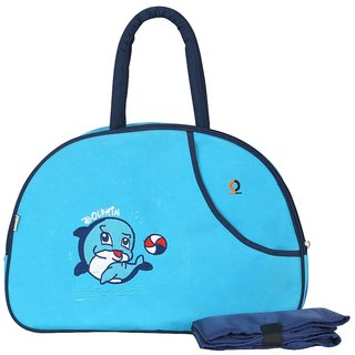 Vouch Irish Blue Dcut Sachel / Shoulder bag / diaper bag / mother bag
