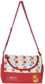 Fisher Price Organized Mum Red Duffel Baby Shoudler Bag / Diaper Bag / Mother Bag